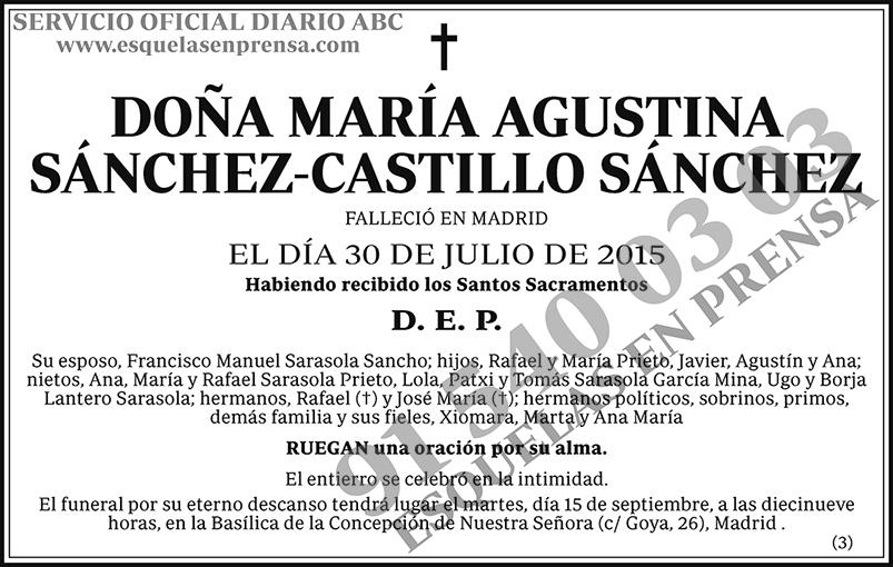 María Agustina Sánchez-Castillo Sánchez